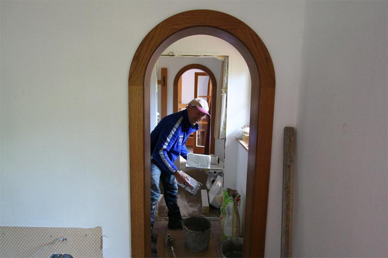badkamer betegelen de Berghut Rauris Oostenrijk pension