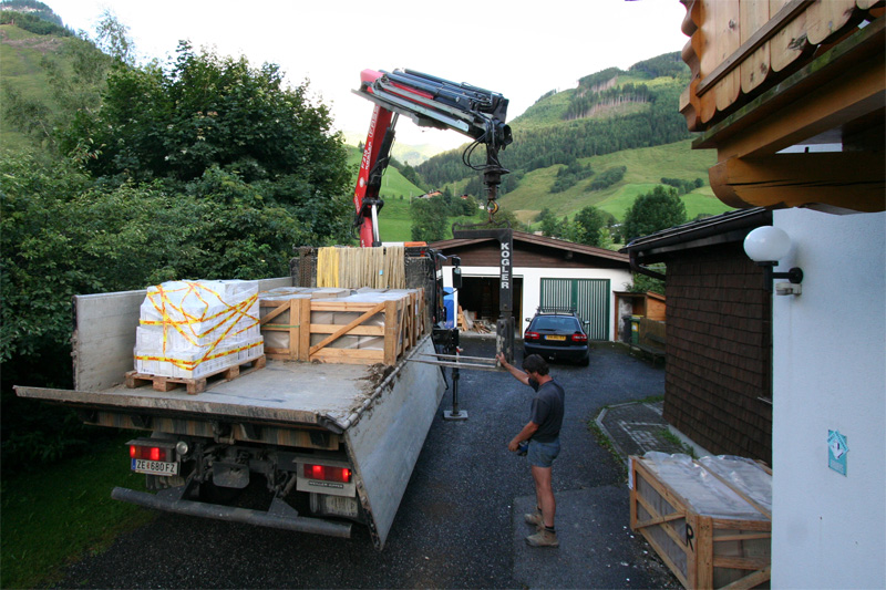 Tegels levering de Berghut Rauris Oostenrijk pension