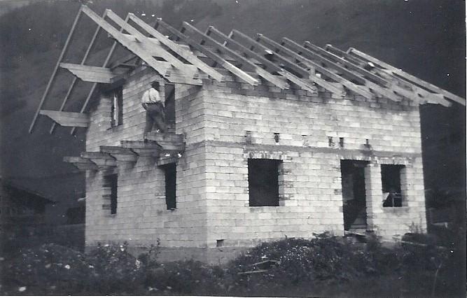 de Berghut Oostenrijk Rauris de bouw