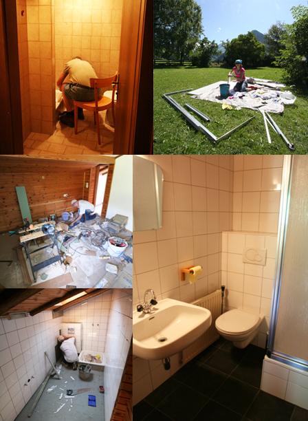 Sanitair de Berghut Rauris Oostenrijk