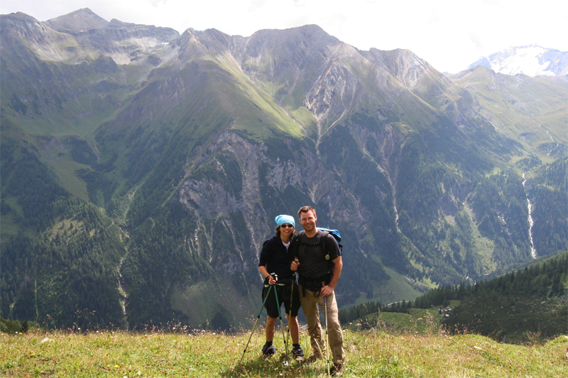 bergwandelen Eidelweissspitze Hirzkarkopf Hans en Nel de Berghut Rauris Oostenrijk