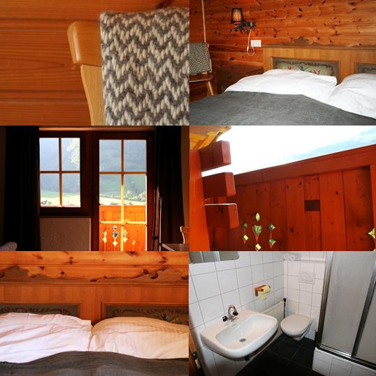 collage huttekamer klaar de Berghut Rauris Oostenrijk familie