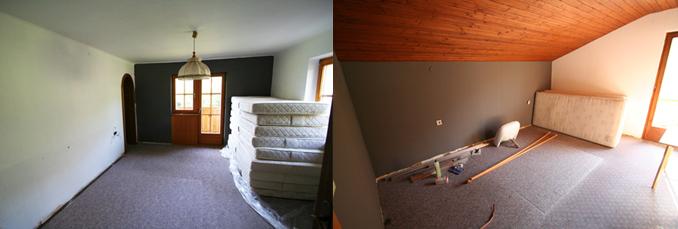 gerverfde kamers collage de Berghut Rauris Oostenrijk
