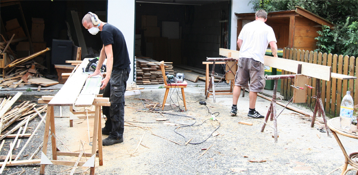 Matratzenlager in de maak de Berghut Rauris Oostenrijk gezinnen groepen