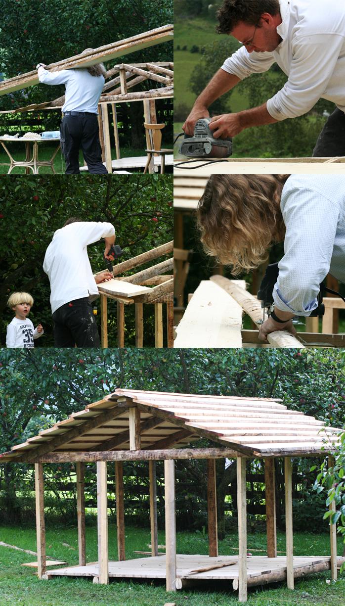 The making of de kleine Berghut de Berghut Rauris Oostenrijk