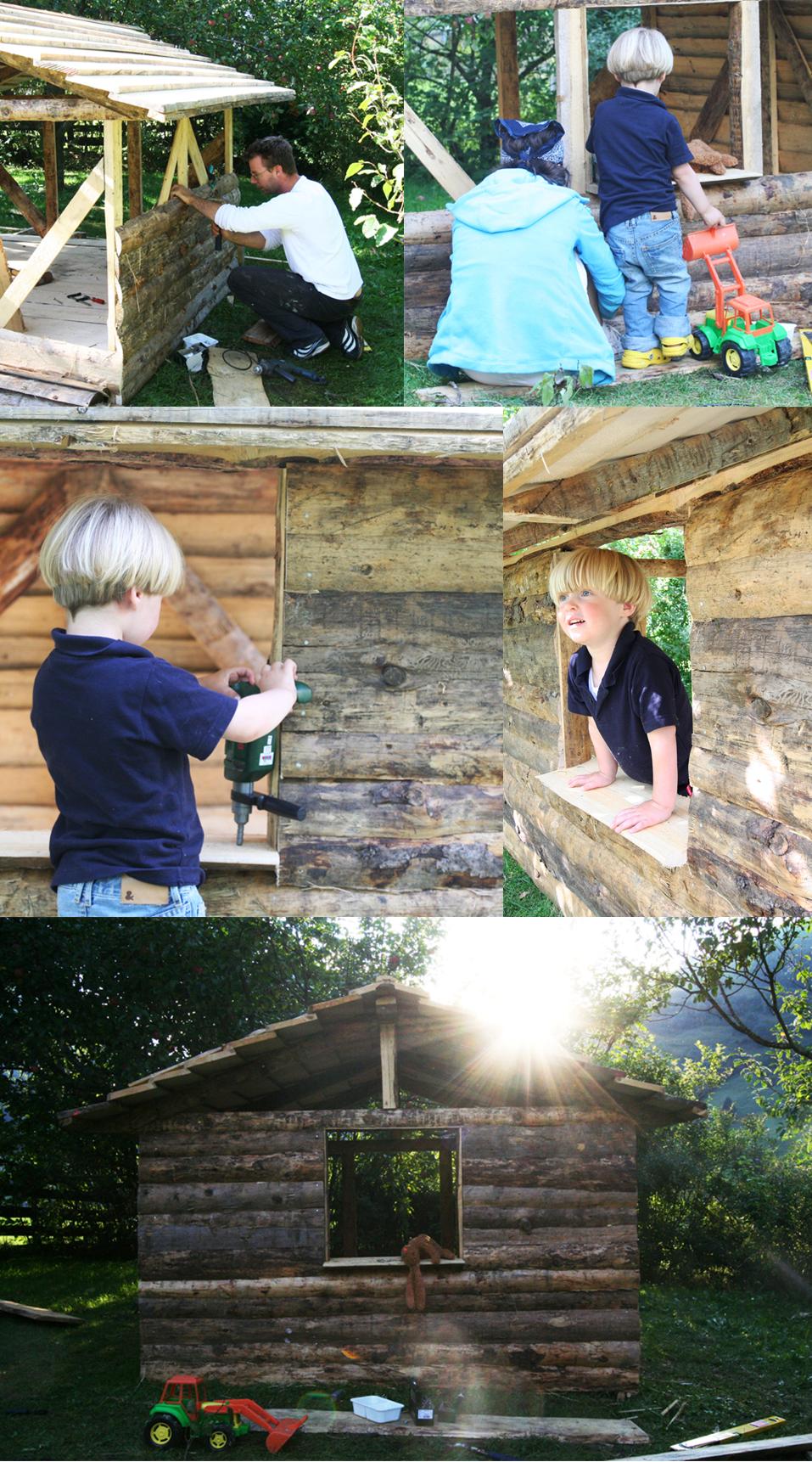The making of de kleine Berghut collage kinderhotel Rauris Oostenrijk gezinnen families