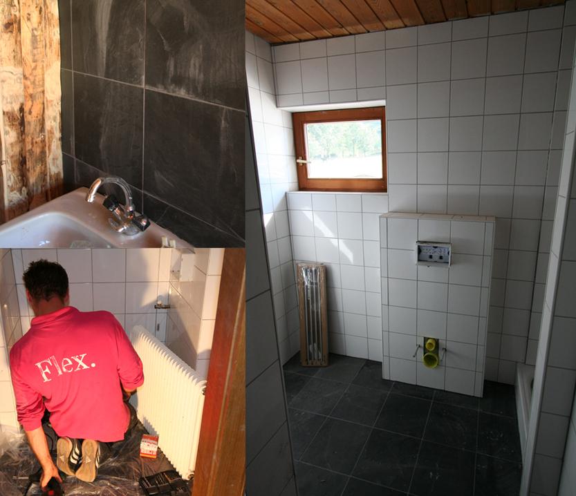verbouwing badkamers de Berghut Rauris Oostenrijk wintersport