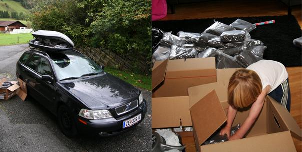 auto invoeren Oostenrijk de Berghut Rauris handdoeken