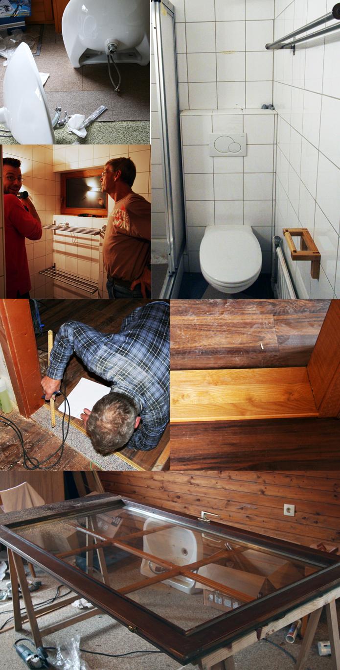 badkamers de Berghut Oostenrijk Rauris verbouwing drempels maken