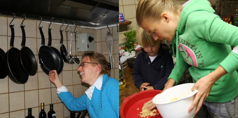 keuken koken de Berghut Rauris Oostenrijk pension wintersport
