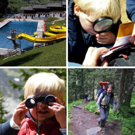 met kleine kinderen naar de Bergen pension hotel kindvriendelijke vakantiebestemming in de Berghut  in Oostenrijk