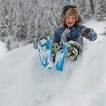 Zo leuk is sneeuwschoenwandelen met kids!
