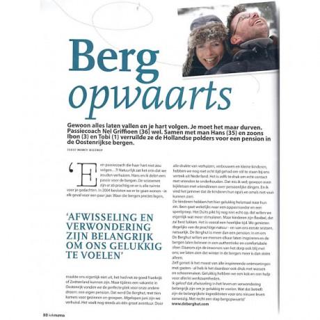 pers media journalisten bergen vakantieadresje in hotel pension de Berghut Rauris Oostenrijk