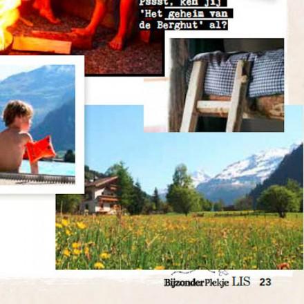 LIS pers media journalisten bergen vakantieadresje in hotel pension de Berghut Rauris Oostenrijk