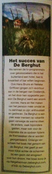 de Berghut in  Flow - maart 2013