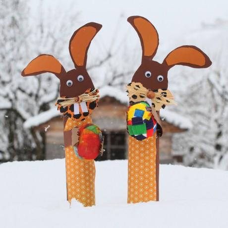 vrolijk pasen met sneeuw