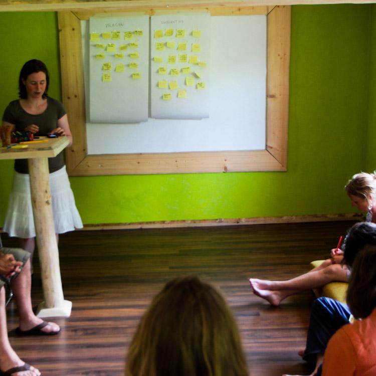 Gave dingen doen sessie in de Berghut tijdens de inspiratieweek