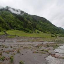 Modderstromen Oostenrijk noodweer bij de Berghut Rauris juni 2013