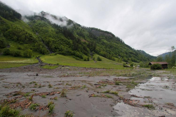 modderlawine in het Rauriserdal
