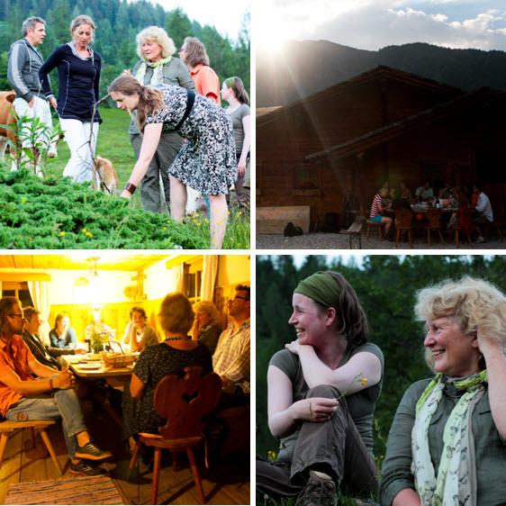 Inspiratieweek in de Berghut bij Roshwitha op de Broodbakalm in Rauris foto's