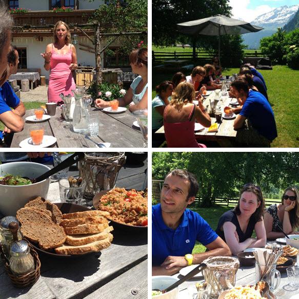 puur simpel samen lunch met Anchelle Doets tijdens de inspiratieweek in de Berghut 2013