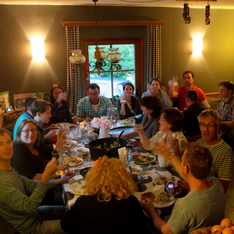 lekker eten in de Berghut kindvriendelijk vakantieadresje in Oostenrijk accomodatie pension