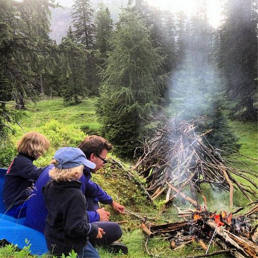 wildkamperen in Oostenrijk bij de Berghut