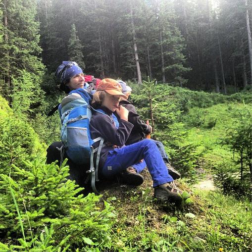 bergwandelen met kinderen in Oostenrijk slapen in de Berghut.com Rauris