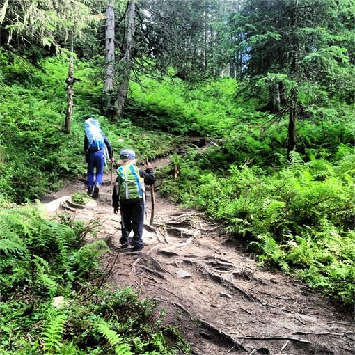 bergwandelen met kinderen bij de Berghut in Oostenrijk Rauris Hohe Tauern