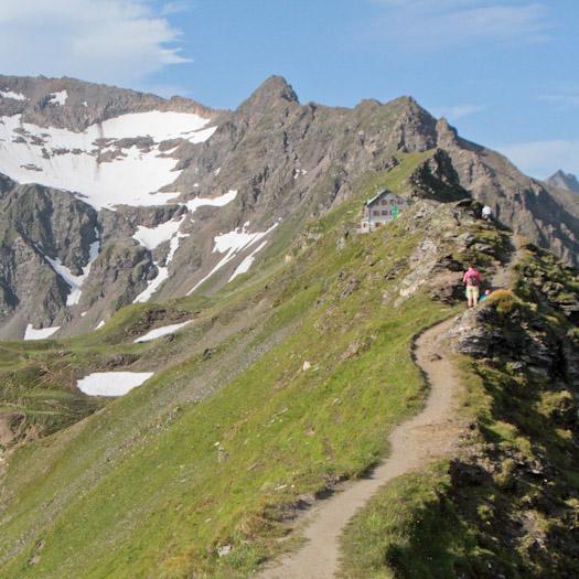 bergwandelen naar berghut Niedersachsenhaus in het raurisertal vanuit de Berghut (13 van 20)
