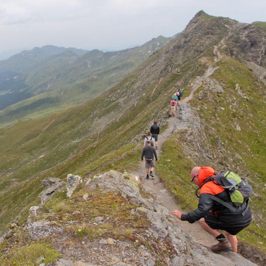 bergwandelen naar berghut Niedersachsenhaus in het raurisertal vanuit de Berghut (17 van 20)