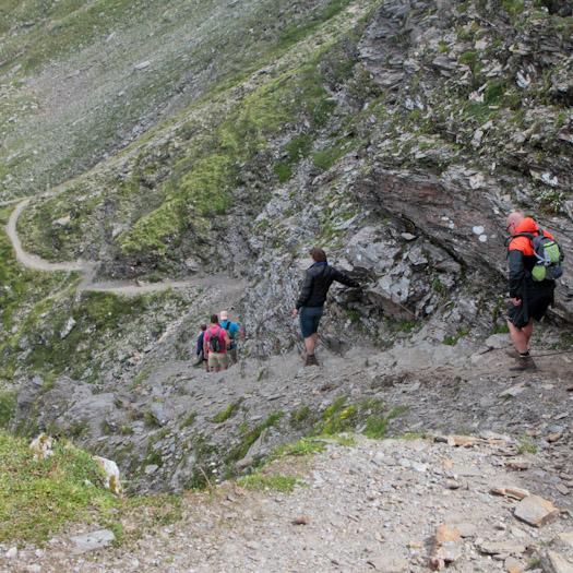 bergwandelen naar berghut Niedersachsenhaus in het raurisertal vanuit de Berghut (19 van 20)
