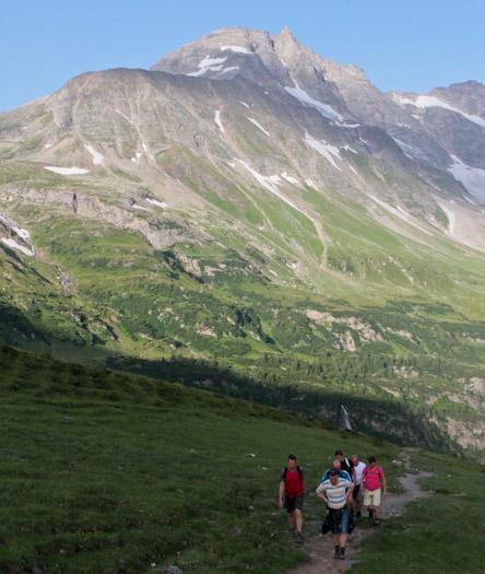 bergwandelen naar berghut Niedersachsenhaus in het raurisertal vanuit de Berghut (5 van 20)