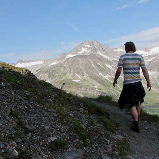 bergwandelen naar berghut Niedersachsenhaus in het raurisertal vanuit de Berghut (9 van 20)