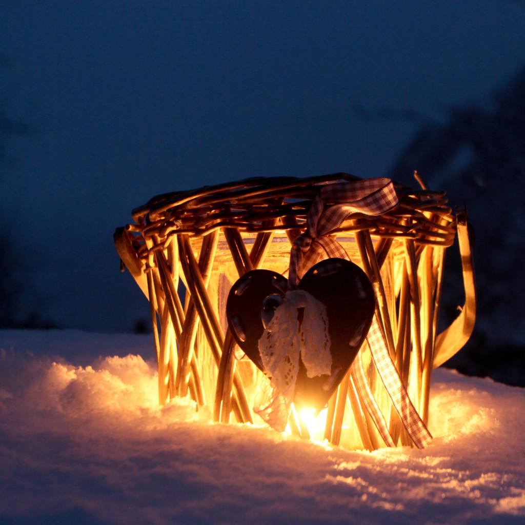 inspiratieweekend in de bergen de Berghut.com hart kandelaar