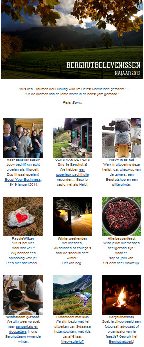 nieuwsbrief de Berghut herfst 2013