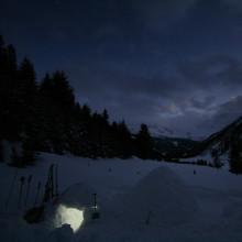 iglo bouwen met de ICEBOX bij de Berghut.com in Oostenrijk wintersport