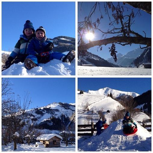 sneeuwpret bij de Berghut.com wintersport met kleine kinderen kinderopvang