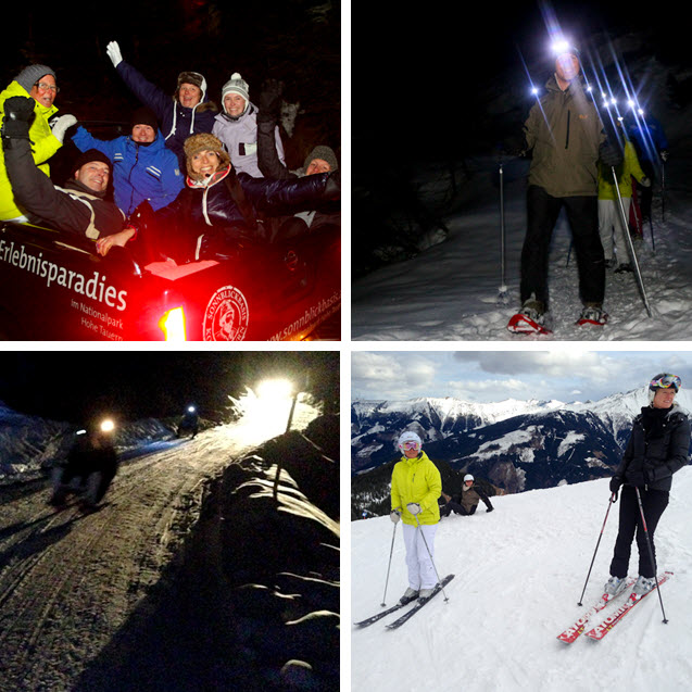 buitenbreak lang weekend skien in Oostenrijk sneeuwschoenwandelen rodelen bij de Berghut.com