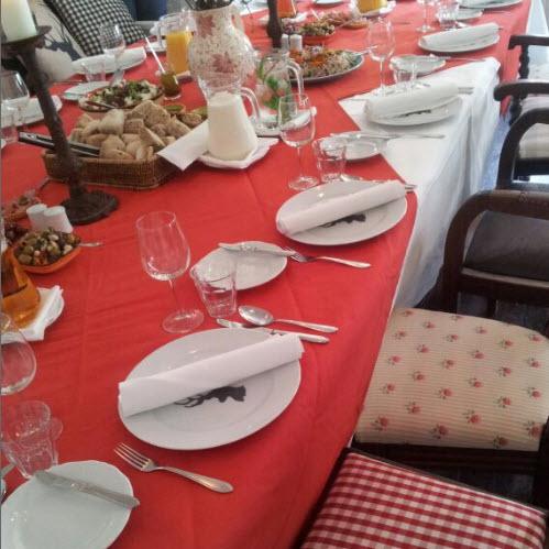 aan de rode tafel met Hannah