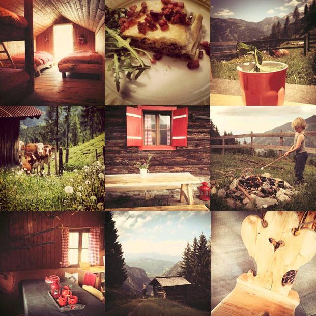 vakantie in een berghutje almhut Oostenrijk vakantiehuis in de bergen