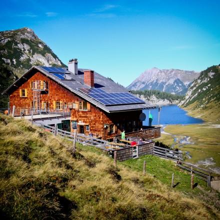 Huttentocht met kinderen Tappenkarseehut Oostenrijk
