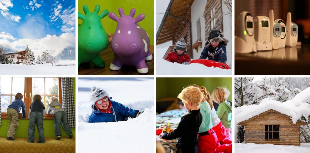 jonge gezinnenweken de Berghut.com Oostenrijk kinderopvang wintersport