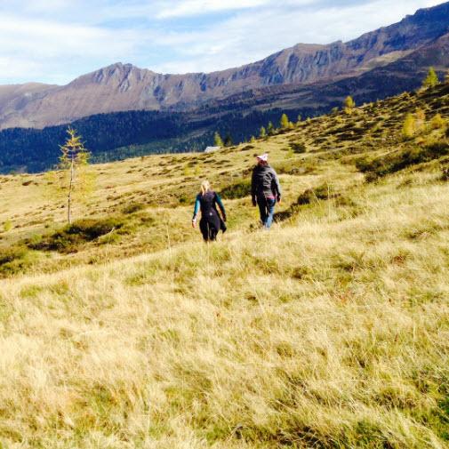 herfst in het Rauriserdal in de Alpen bij de Berghut jagershutje vierkant
