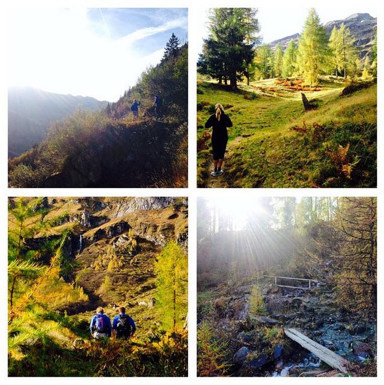 herfst in het Rauriserdal in de Alpen bij de Berghut