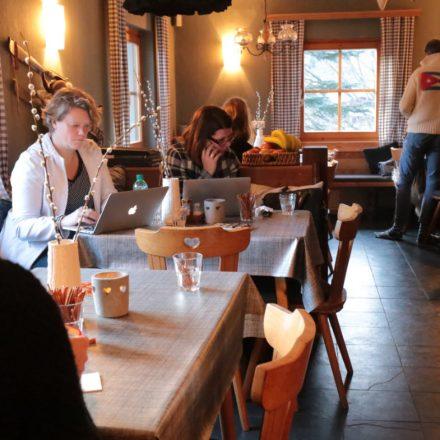 sneeuwwerkplekweek in de Berghut ondernemers Oostenrijk wintersport