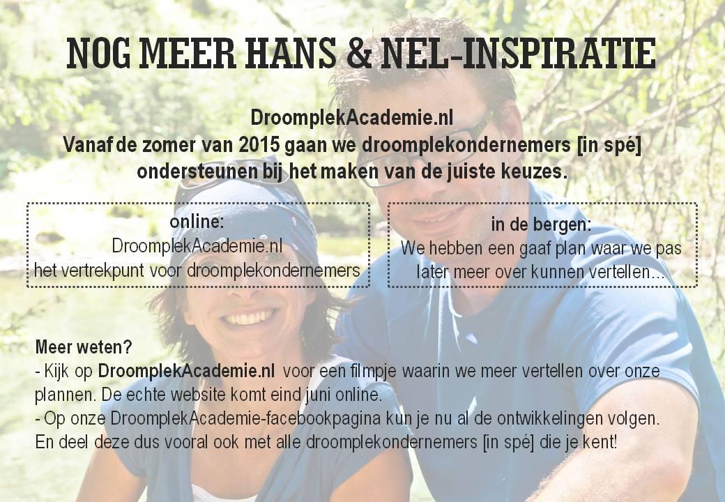deBerghut.com Oostenrijk DroomplekAcademie.nl Ik vertrek tips opleiding
