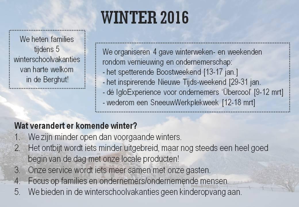 deBerghut.com Oostenrijk winter 2016