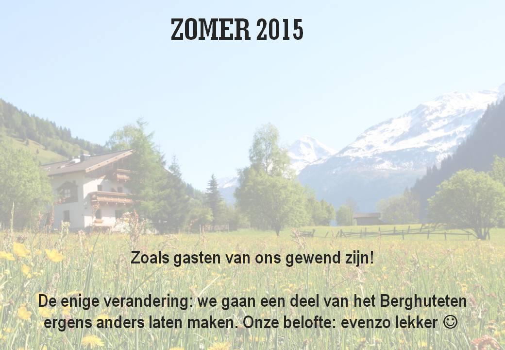 deBerghut.com Oostenrijk zomer 2015