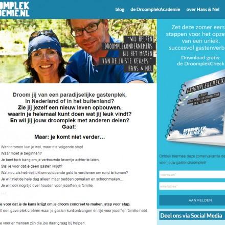website droomplekacademie.nl tips emigratie ik vertrek het roer om hotel beginnen camping kopen cursus